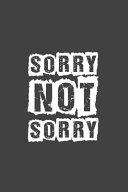 Sorry Not Sorry Pdf/ePub eBook