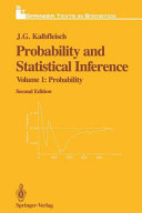 Probability and Statistical Inference Book