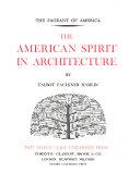 The American Spirit In Architecture Book