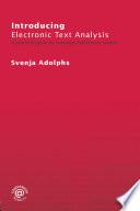 Introducing Electronic Text Analysis