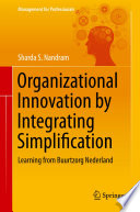 Organizational Innovation By Integrating Simplification Book PDF