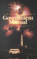 United States Government Manual 2000 2001