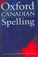 Oxford Canadian Spelling Book PDF