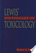 Lewis  Dictionary of Toxicology