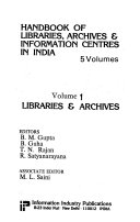 Handbook of Libraries  Archives   Information Centres in India  Libraries   archives