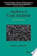Handbook Of Coal Analysis Book PDF