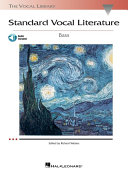 Standard Vocal Literature - An Introduction to Repertoire (Songbook)