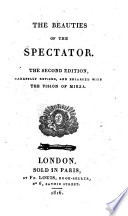 The Beauties Of The Spectator 2nd Ed Revised And Enlarged With The Vision Of Mirza