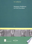 European Traditions In Civil Procedure