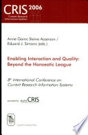 Enabling Interaction And Quality Book PDF