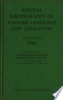 Annual Bibliography Of English Language And Literature