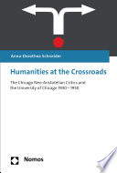 Humanities at the Crossroads Book