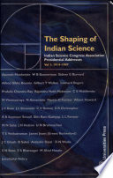 The Shaping of Indian Science: 1914-1947