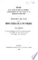 tude sur le cadastre des terres  les hypoth  ques  l enregistrement des actes publics et la p  r  quation de l imp  t foncier  Projet de loi sur un d  p  t g  n  ral de la foi publique  Trois m  moires par F  de Robernier  I  Porro  F  Porro   Appendice au deuxi  me m  moire  De la tol  rance en agrim  trie par J  Porro