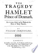 The Tragedy of Hamlet  As it is now acted at his Highness the Duke of York s Theatre Book PDF