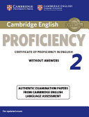 Cambridge English Proficiency 2 Student's Book without Answers
