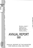 Annual Report of the Minister for Agriculture and Food