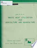 State Of The Art Waste Heat Utilization For Agriculture And Aquaculture