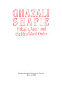 Malaysia  ASEAN  and the New World Order Book PDF