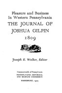 The Journal of Joshua Gilpin  1809