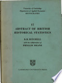 abstract of british historical statistics