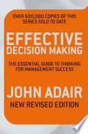 Effective Decision Making  REV ED