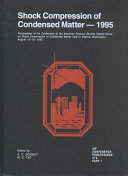 Shock Compression Of Condensed Matter 1995