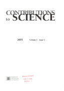 Contributions to Science Book