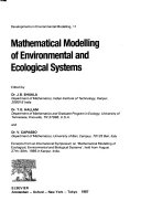 Mathematical Modelling of Environmental and Ecological Systems Book