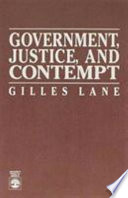 Government  Justice  and Contempt Book