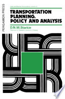 Transportation Planning  Policy and Analysis