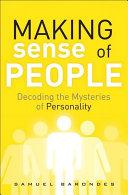 Pdf Making Sense of People