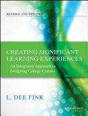 Creating Significant Learning Experiences: An Integrated ...