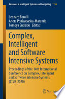 Complex  Intelligent and Software Intensive Systems