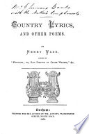 Country Lyrics And Other Poems Book PDF