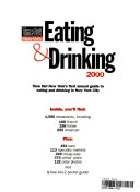 Time Out New York s Eating and Drinking  2000 Book PDF