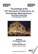 ECKM2015 16th European Conference on Knowledge Management