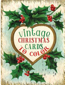 Vintage Christmas Cards to Color