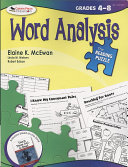 The Reading Puzzle  Word Analysis  Grades 4 8