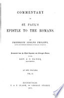 Commentary On St Paul S Epistle To The Romans