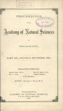 Proceedings of The Academy of Natural Sciences (Part III -- Aug.-Dec., 1881) [Pdf/ePub] eBook