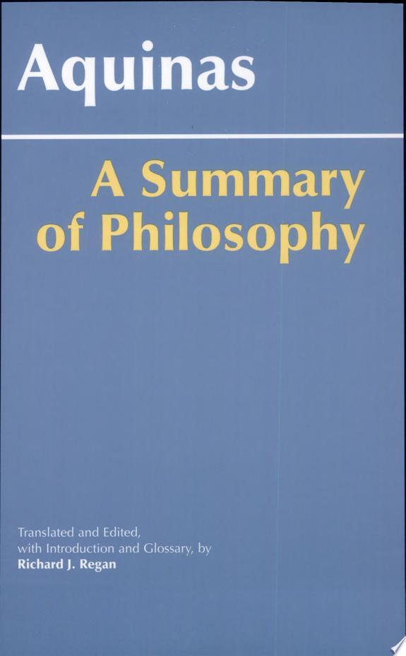 A Summary of Philosophy