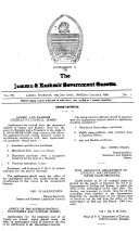 The Jammu And Kashmir Government Gazette