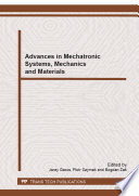 Advances in Mechatronic Systems  Mechanics and Materials Book