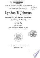 Public Papers of the Presidents of the United States  Lyndon B  Johnson Book PDF