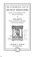 The Fundamental Laws of Human Behavior