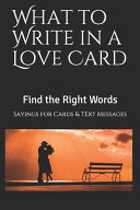 What to Write in a Love Card
