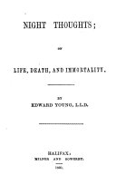 Night thoughts  on life  death  and immortality