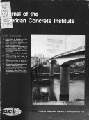 Journal of the American Concrete Institute