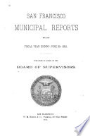 Municipal Reports for the Fiscal Year ....